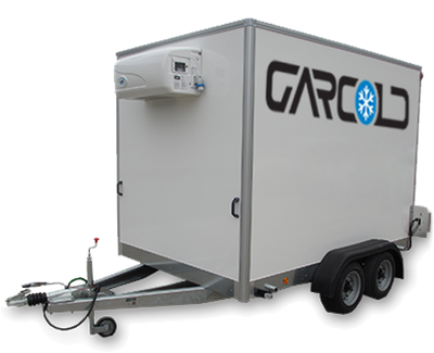 Small 2.6m refrigerated trailer